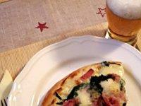 Spenótos, gorgonzolás pizza